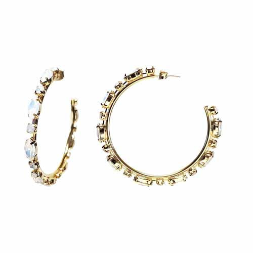 [How You Like That_ TITLE POSTER. 블랙핑크 리사협찬] Opal Multi Stone Hoops